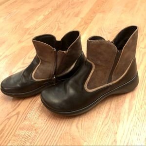 Naot Ankle Boots Brown Leather Two Tone Booties